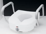 E-Z Lock™ Raised Toilet Seat with Adjustable Handles